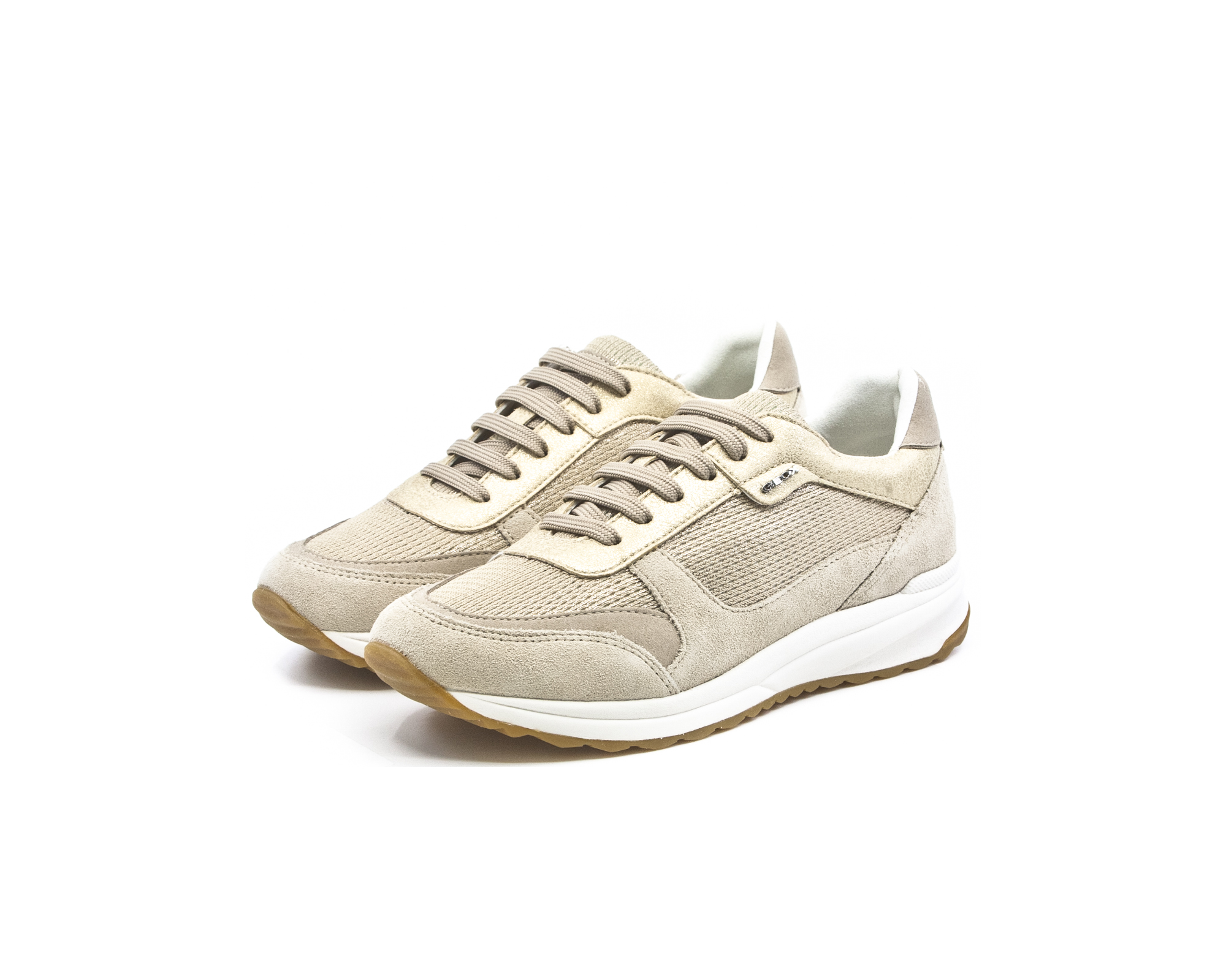 82c45a84fa1 Geox D Airell Γυναικεία Ανατομικά Sneakers Champagne-Beige (D642SC 0LY22  CB55A) - LifeShoes.gr