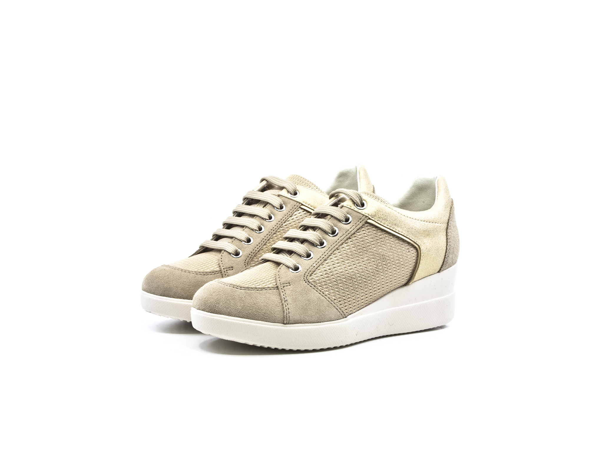 4d8286591e6 Geox Stardust Γυναικεία Ανατομικά Sneakers με πλατφόρμα Taupe/Champagne  (D8230B 022LY CH6B5) - LifeShoes.gr